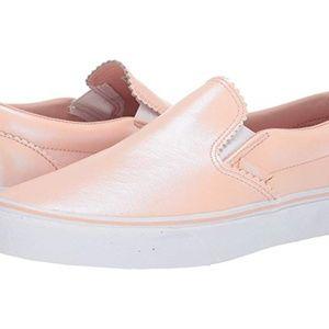 VANS Pearl Slip On Leather Sneaker 8.5